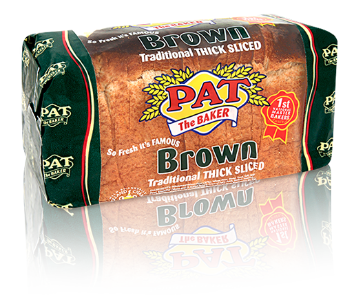 Brown Bread Traditional Thick Sliced 800g | Pat The Baker