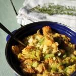 Garlic & Leek Bread Pudding | Pat The Baker