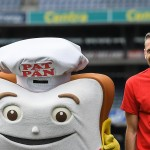 7 June 2017; The GAA and GPA are delighted to announce a new partnership with Pat the Baker to promote the new Protein Bread at Croke Park in Dublin. In attendance at the launch are, from left, Donegal footballer Michael Murphy, former Dublin footballer Alan Brogan and Tipperary hurler Padraic Maher.