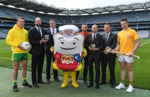 7 June 2017; The GAA and GPA are delighted to announce a new partnership with Pat the Baker to promote the new Protein Bread at Croke Park in Dublin. The five year revenue share agreement will see a percentage of all sales going towards the GPA Player Development Programme, supported by the GAA. The Programme assists county players in critical areas of their off-field lives including education, career and personal development, health and wellbeing. In attendance at the launch are, from left, Donegal footballer Michael Murphy Dermot Earley, CEO, GPA, Declan Fitzgerald, CEO, Pat the Baker, former Dublin footballer Alan Brogan, Joe Curran, Head of Sales Operations, Pat the Baker, Peter McKenna, Commercial Director, GAA and Tipperary hurler Padraic Maher