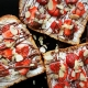 Toast with Honey, Mascarpone, Nutella and Strawberries