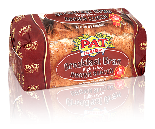 Breakfast Bran High Fiber Brown Sliced Pan| Pat The Baker