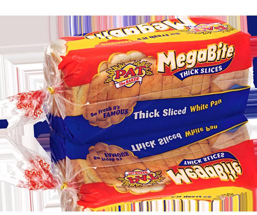 Megabite Thick Sliced White Pan | Pat The Baker