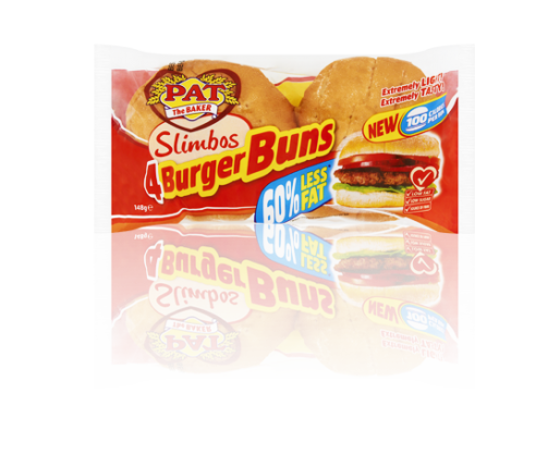 Slimbos Burger Buns | Products | Pat The Baker